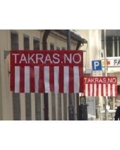 Takras kun flagg / pvc duk - stor størrelse